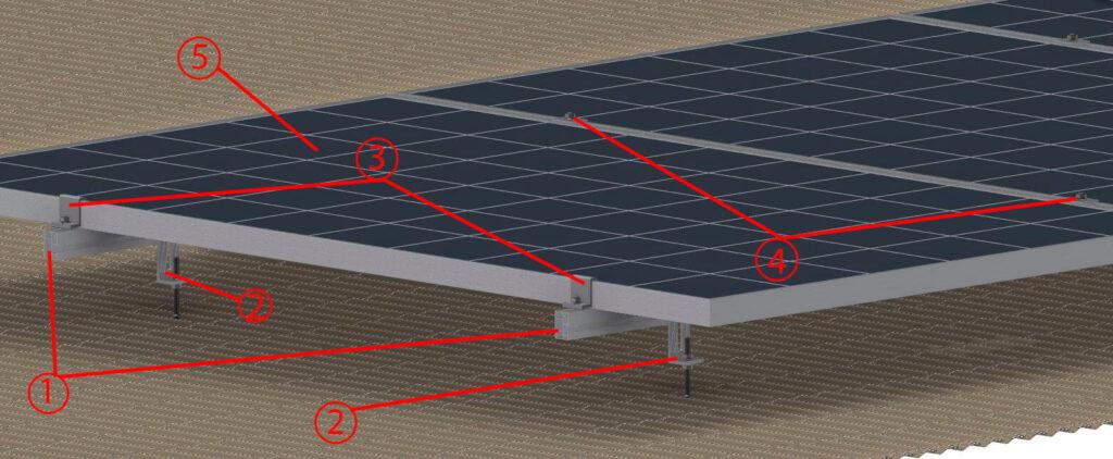 Рисунок - Внешний вид системы солнечных панелей на кровле