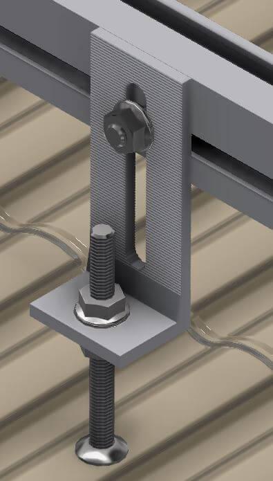 алюминиевый кронштейн с двусторонним винт-шурупом