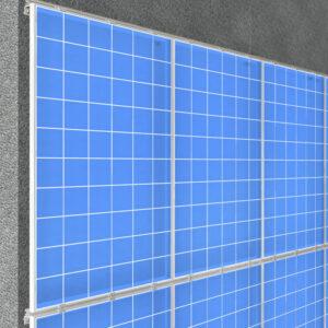 крепление солнечных панелей на фасаде